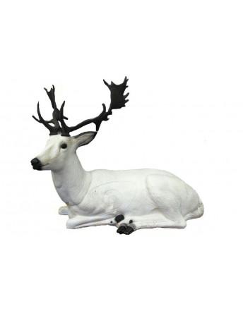 Renne blanc couché